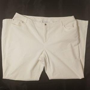 liz & co. Jeans - Liz & Co White Cords....Size 20W